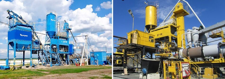 DS 158 VS DS 185 - comparison of asphalt mixing plants