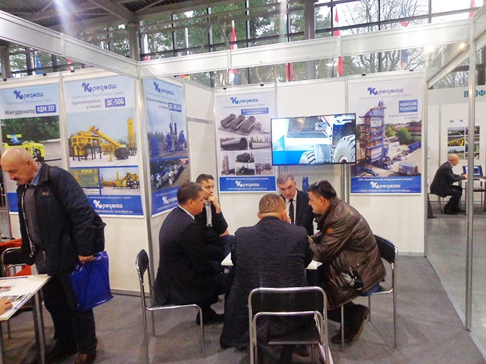 Kremenchuk plant of road machines Kredmash at the exhibition Avtodorexpo